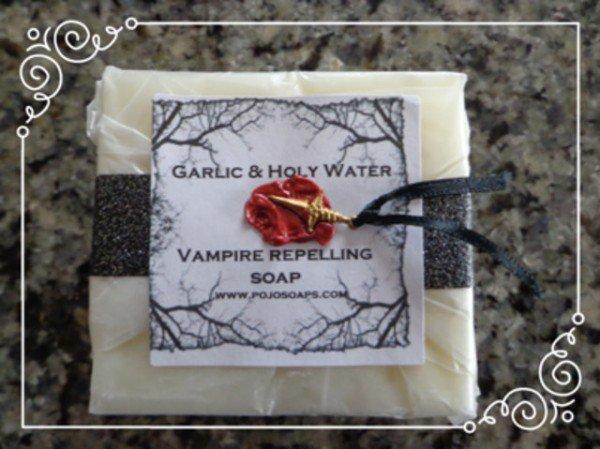 Garlic & Holy Water Vampir Repelling Soaps